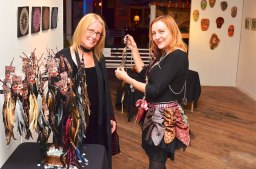 Selling Art-to-Wear at Syrup Loft Gallery, Dec. 2012