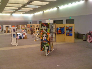 Pop Art Gallery at ITV Fest/ POP CON , at LA Convention Center, July 2012